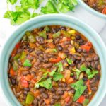 This Instant Pot Chili is super easy to make and comes together in under 20 minutes. The whole family will love this naturally vegan and gluten free meal with really simple ingredients.