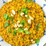 Roasted cashews are topping this Instant Pot Dal.