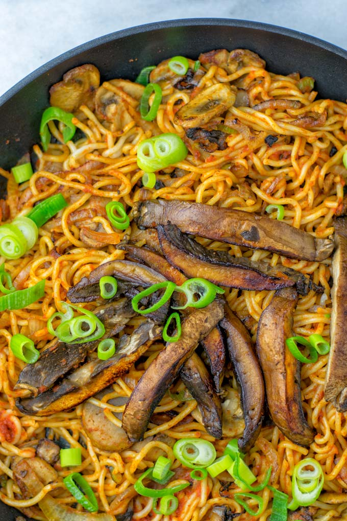 My spicy noodles recipe is naturally vegan.