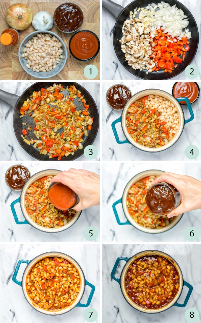 Step by step pictures of how to prepare this recipe.