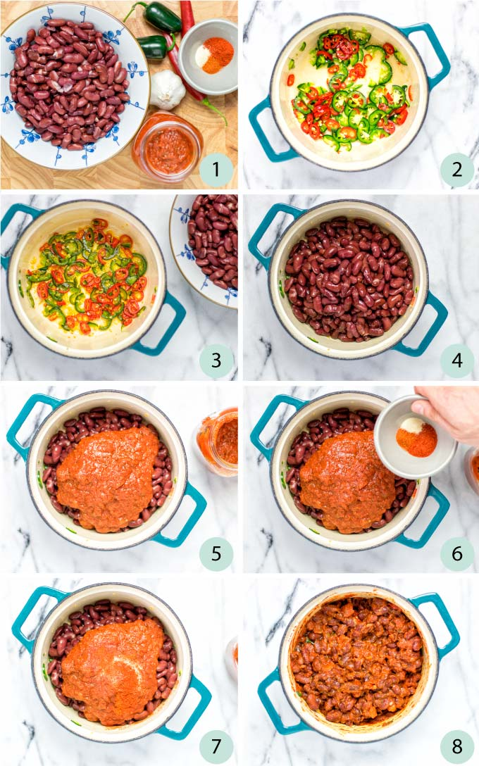 Step by step instructions on how to make this Chili Beans Recipe.