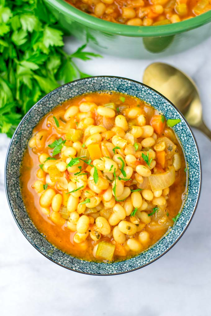 The navy Bean Soup is perfect meal prep for the whole family.