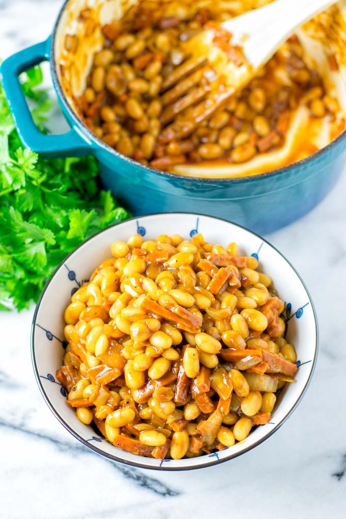 Easy to make homemade Baked Beans.