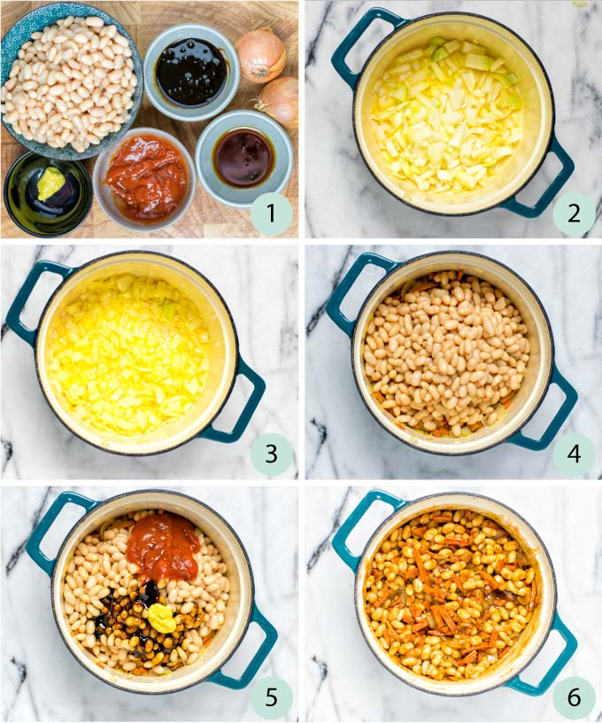 Step by step instructions how to make Boston Baked Beans