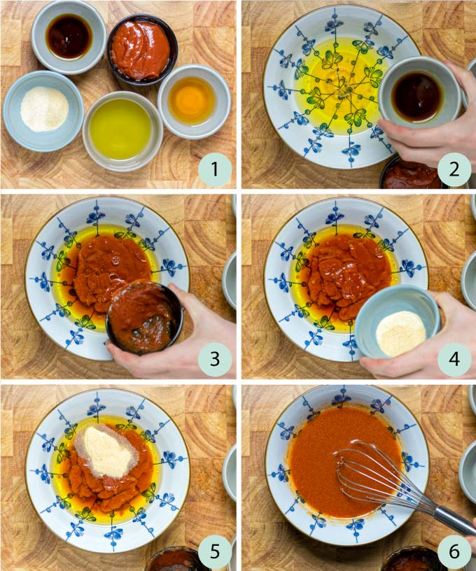 Step by step instructions how to make the Catalina Dressing