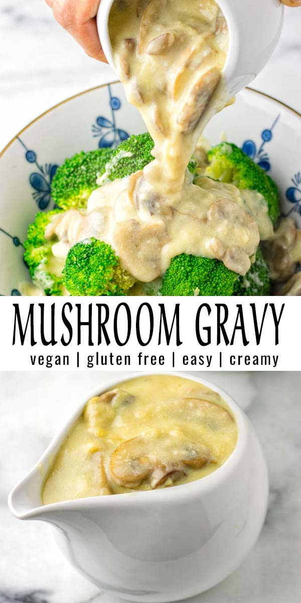 This Mushroom Gravy is the only recipe you want to make for holidays, Thanksgiving and Christmas but I have to admit it is delicious at any time or day. Great for dinner, mealprep, lunch, that the whole family will love. #vegan #dairyfree #glutenfree #vegetarian #holidayfood #christmas #thanksgiving #dinner #lunch #contentednesscooking #mealprep #mushroomgravy
