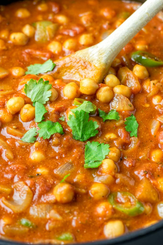 Chickpeas give this recipe the right texture.