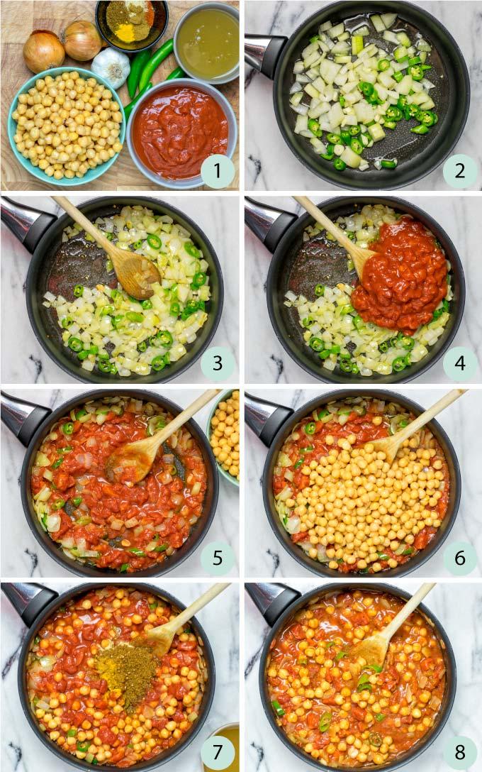 Step by step instructions how to make Chana Masala.