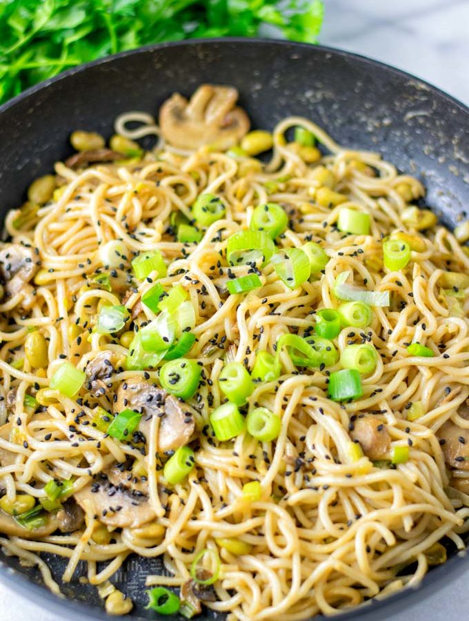 Dan Dan Noodles can be enjoyed fresh from the pan or reheated as meal prep.