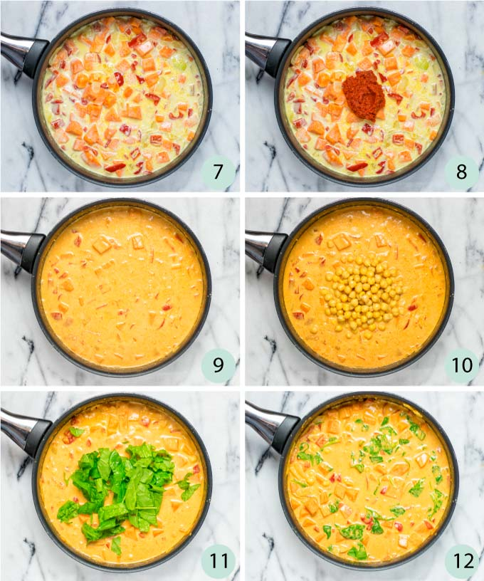 Step by step instructions to make Sweet Potato Curry
