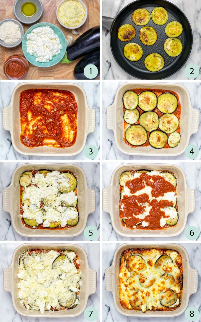 Step by step guide how to make an Eggplant Lasagna