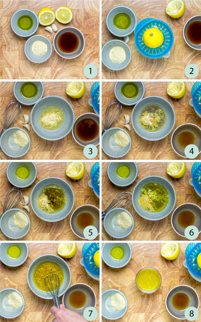 Step by step instructions how to make an easy Lemon Vinaigrette.