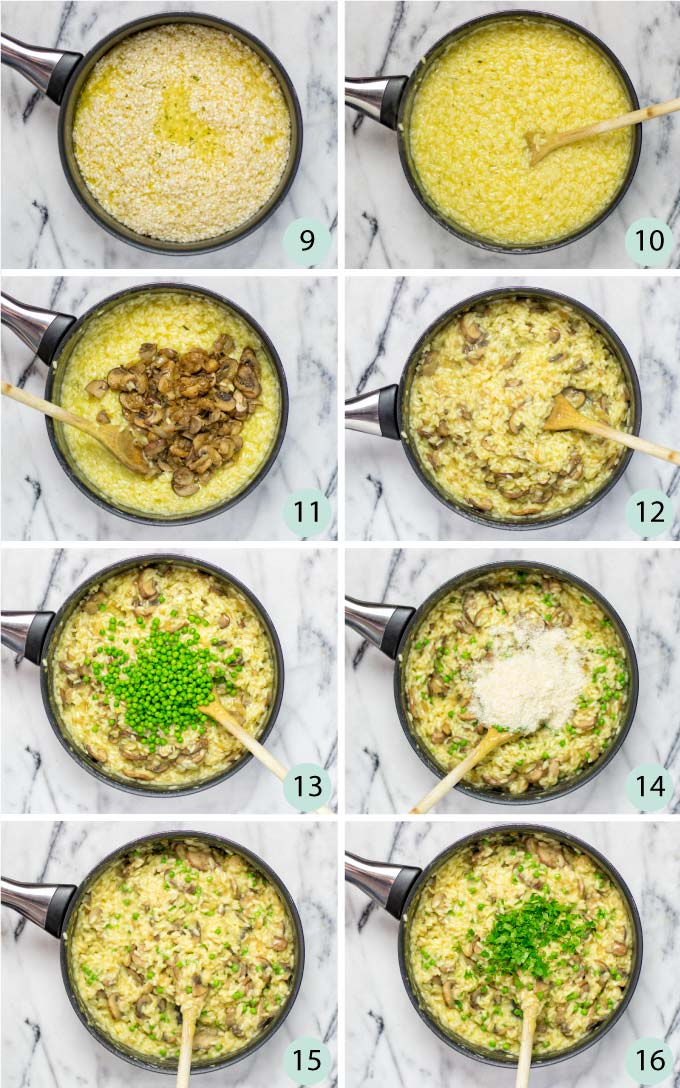 How to make this Mushroom Risotto is easy steps guide.