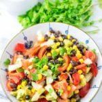 Enjoy a big bowl of my Black Bean and Corn Salad.