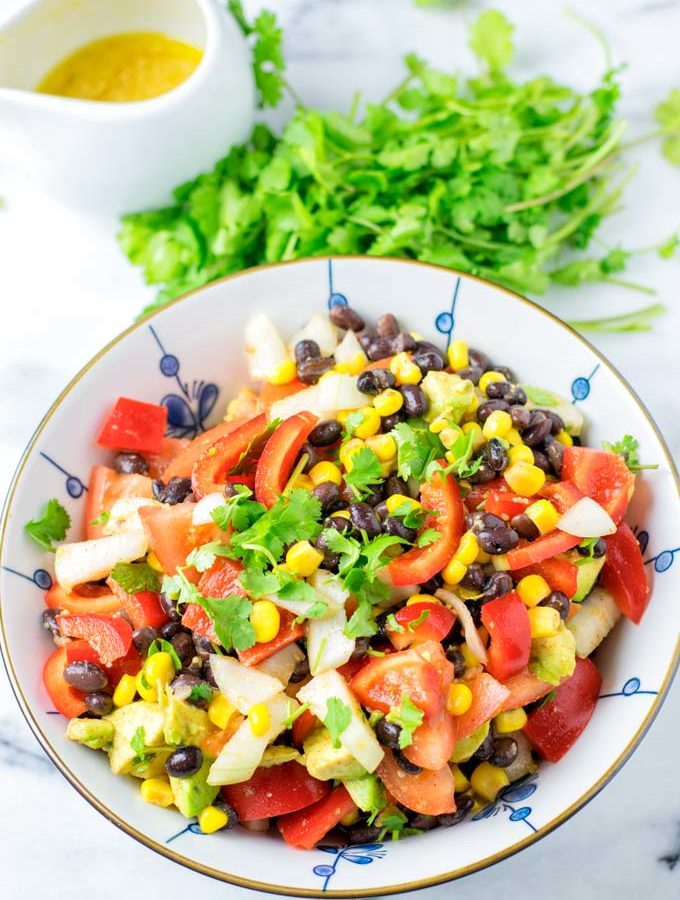 Enjoy a big bowl of my Black Bean and Corn Salad.