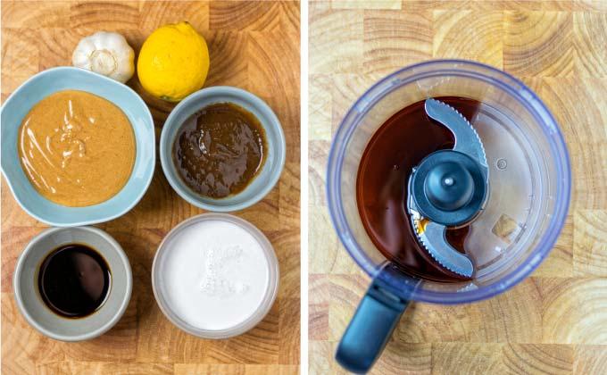 Ingredients needed for making this Gado Gado Sauce.