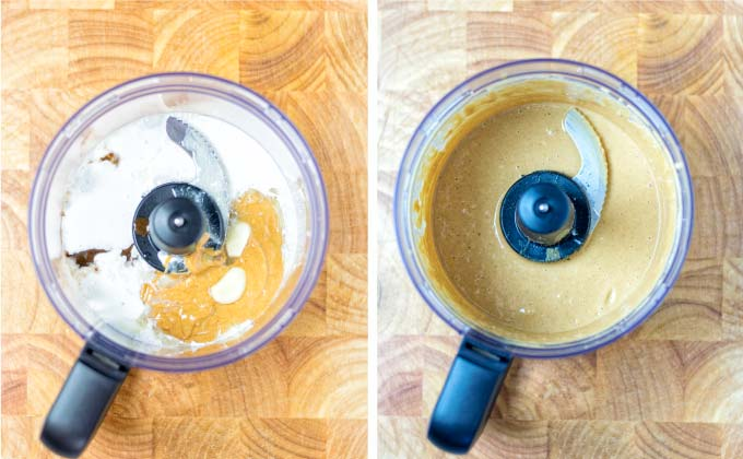 Combining everything in the food processor and you have an easy vegan Gado Gado Sauce.