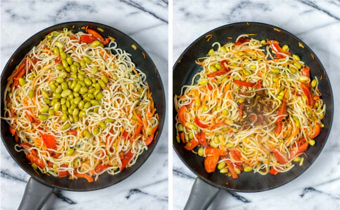Add flavor to these Pan Fried Noodles with my own Pad Thai Sauce.
