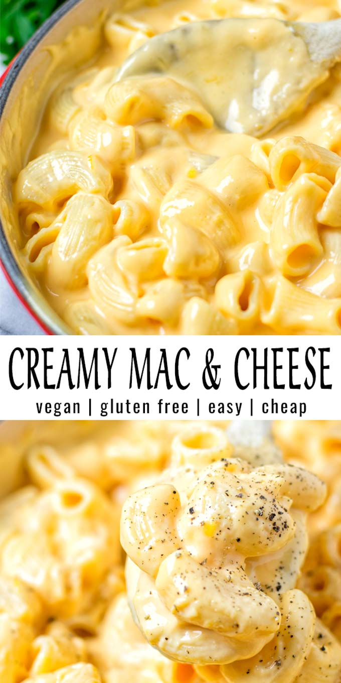 Easy and ready in 15 minutes: this Creamy Mac and Cheese is incredibly satisfying, delicious and so easy to make. Everyone will eat this, even the pickiest eaters. It tastes better than the real deal and no one would ever taste it is vegan. #vegan #dairyfree #glutenfree #vegetarian #comfortfood #contentednesscooking #dinner #lunch #mealprep #creamymacandcheese #veganmacandcheese