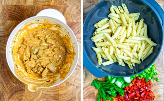 Step 2: preparing the vegetable ingredients