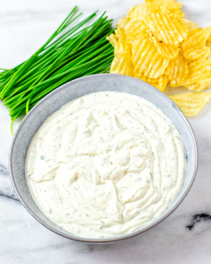 Ready Ranch Dip in a bowl.