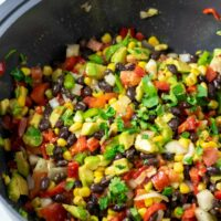 The ready Cowboy Caviar in a large bowl.