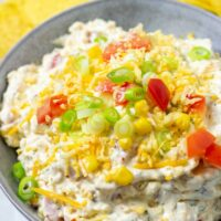 Ready and served Fiesta Ranch Dip.