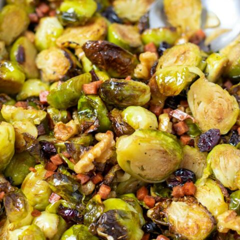 Closeup of the Brussels Sprouts.